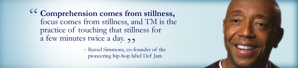 Comprehension comes from stillness, focus comes from stillness, and TM is the pracitce of touching that stillness for a few minutes twice a day.